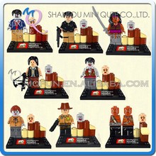 Mini Qute JX 8pcs/set Movie characters The Walking Dead American boys building blocks action figures educational toy NO.1003