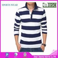 Fashion Men Striped Polo Shirt Long Sleeve Polo Shirt Wholesale China