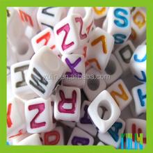 jewelry beads random mixing acrylic cube alphabet beads