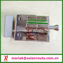 stainless steel spring loaded glass to glass latch