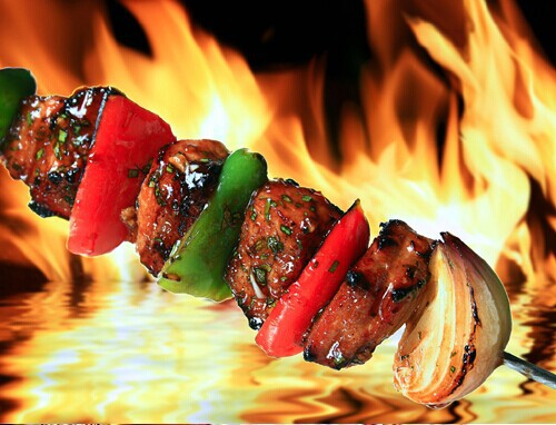 Automatic rotating electric barbecue grill machine   ..jpg