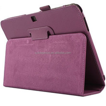 Purple PU leather tabet case for Samsung Galaxy Tab 4 T530 protective case