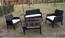 outdoor furniture popular 4pcs garden rattan sofa,kd packing outdoor sofa set