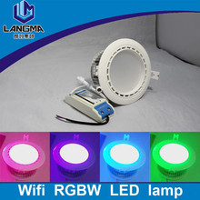 Langma rgb Multi-Colors spotlight milight rgbw color changing smart remote control down lamp ceiling recessed led downlight -rgb