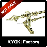 KYOK New 25/28mm Curtain Rod Finals, Luxury Wrought Iron Curtain Poles/Pipes