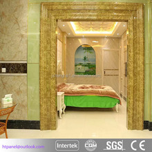 Indoor decorative marble pattern pvc wall panel with UV coating
