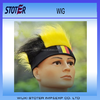 cheap 2016 Euro cup PET black yellow red football event Wig