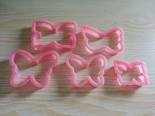 plastic butterfly shaped cookie cutter set