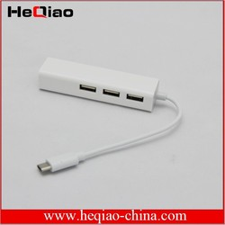 USB 3.1 Type-C Network Adapter for Macbook with 3 USB hub