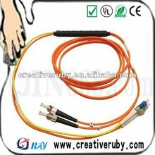 Fiber Optic Patch Cable - LC Male - ST Male - 3.28ft - Yellow, Orange