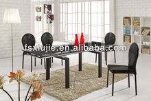 8 Seater Adjustable Glass Dining Table