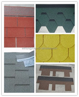 long service colored bitumen roof shingles - never fade