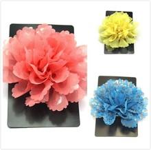 Fashion party fabric brooch/bridal brooch with flowers /wedding fabric flower brooch