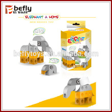 bloque de elefante para niño plastic toy building blocks