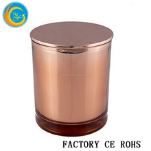 Polished Copper Candle jar/Votive Candle Holder With Lids/ For Wedding Decorations Wholesale China