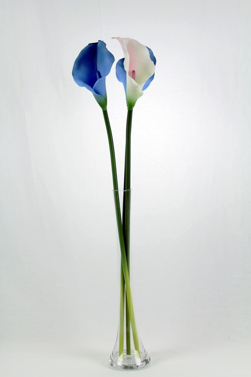Long Neck Clear Glass Flower Vase For Home Decoration Table Centerpieces
