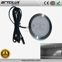 Alibaba en espanol Led lighting fixture Aluminium led cabinet downlight , 12V LED puck lights