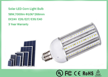 E40 Solar led alta calidad DC24V 120 w llevó la luz del maíz
