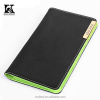 SK-8031P leather travel wallet passport holder with card case OEM services