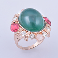 NEW ARRIVAL FASHION ACCESSORY CRYSTAL PAVED BLACK BRAZIL RING RING DESIGNS FOR WOMEN