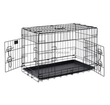 China Hot Sales Cheap Two Door Metal Folding Dog Cage