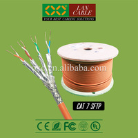Kenya Hot Selling 305m 1000ft FR PVC Sheath 8 Cores 4 PR 0.58mm Solid OFC Cat7 SFTP Net Connect Cable