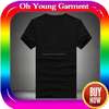Men custom printed t-shirt alibaba china clothing manufacturers cheap bulk round neck black t shirt
