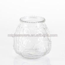 Machine made Seasonal Decor Use Clear Glass Canister