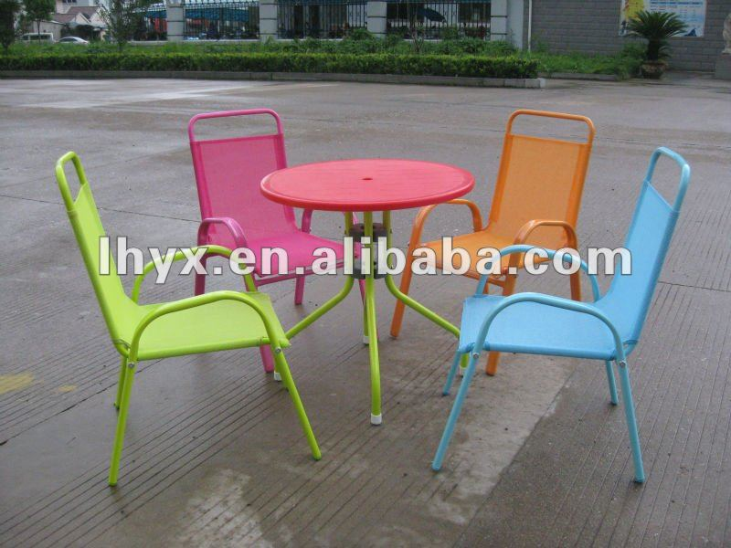 Metal Children Garden Furniture Set metal Kids Table And