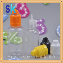 China New bottles 30ml PET dropper bottle e liquid bottles long drip childproof cap