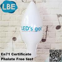 logo printed light bulb balloon