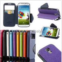 Magnetic Wallet Leather Window Card Flip Pouch Stand Case For Samsung Galaxy S4