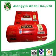 Food package film plastic printed film roll china