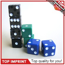 12mm Custom Black Opaque Printed Game Dice