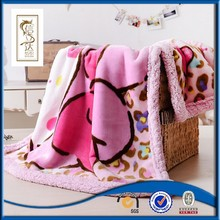 hot sale sherpa fleece knit blanket micro plush fleece blanket for children
