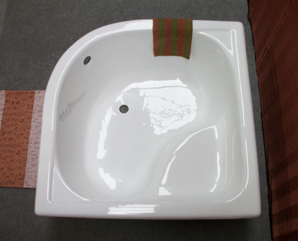 1200x1200cm sector corner bathtub with seat cast iron for Soaking tub with seat