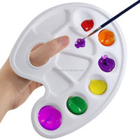 Profesional Plastic Paint Tray Palette with Ten-well and Thumb Hole