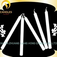 2015 new style long burning time paraffin wax decorative white candle