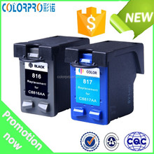 For HP 816 817 Black & Color C8816A C8817A Remanufactured Ink Cartridge for HP816 817