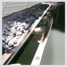 heat resistant rubber conveyor belt for 250degrees calcareous stone transport