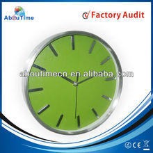 10 inch aluminium wall clock with home decoration/3D number clock/metal clock