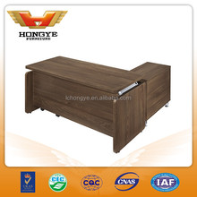 Good quality wooden office table design, modern office desk with side table HY-JT23