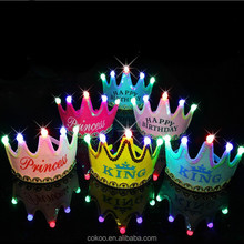 ED Flashing Crown Party Hats