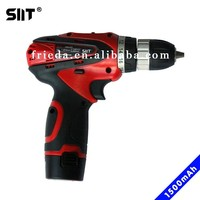 12V cordless electric drill with 1500mAh rechargeble Li-ion battery