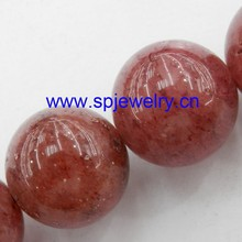 strawberry quartz beads, round 4-16mm,16-inch per strand