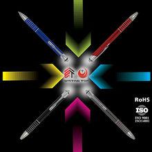 Handsome design led light ball pen