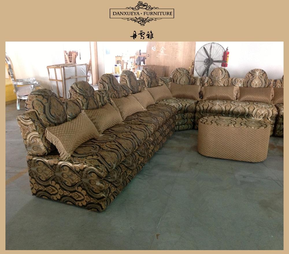 Dubai saudi arabische stijl u vorm luxe stoffen sofa sets, salon ...