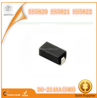 SMD Schottky diode SS5822 40V 3A DO-214AA SMB High Current diode