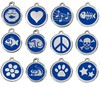 Yiwu Aceon Stainless Steel Pet ID Jewelry Dark Blue Engraved Cat ID Tags