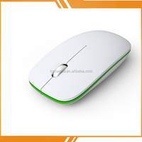 2015 Customized Cheapest Slim Drivers USB Wireless Optical Mouse Rechargeable Wireless Bluetooth Mouse